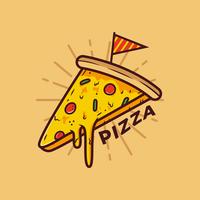 Pizza-Vektor vektor