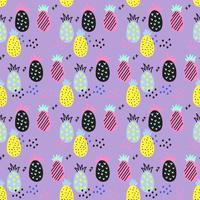 Ananas vektor mönster