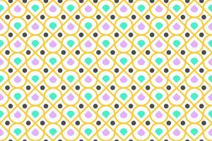 Nahtloses Muster von buntem geometrischem und von Kreis modern auf weißem Hintergrund - Vector Illustration