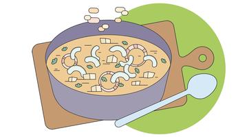 Grönsakssoppa vektor