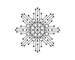 Krets illustration design vektor symbol logoteknik