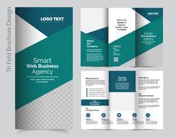 Geschäfts-dreifachgefaltete Broschüre vektor
