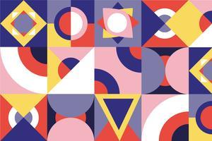 Nahtloses Muster des Knalls und der bunten abstrakten geometrischen Form