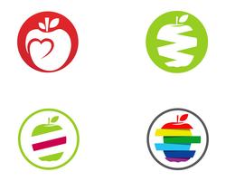 Apple logo och symboler vektor illustration ikoner app ..