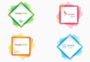 Farbige Papier Vektoren