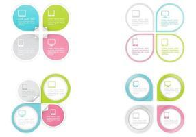 pekare infografiska designvektorer