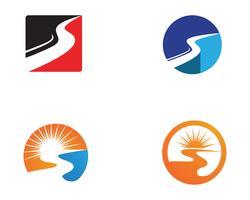 Schnellere Art und Weise Logo Template Vektor Icon Illustration Design,