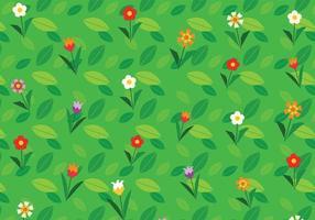 Tecknad blomma bakgrund vektor