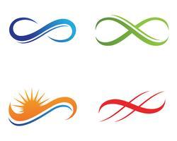 Infinity-Logo und Symbolvorlage Symbole App ,, vektor