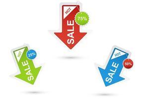 Försäljning Arrow Vektorer