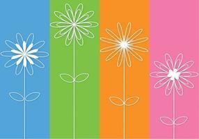 Abstrakter umrissener Blumen-Vektor 3D vektor