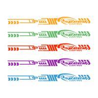 Auto-Fahrrad-Fahrzeug-Grafiken, Vinylabziehbild-Vektorillustration