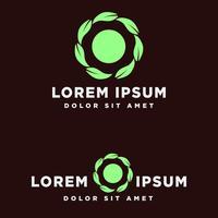 Logo-Schablonen-Vektorillustration Blattgrün eco kreative