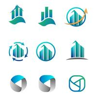 Buchhaltung, Finanzen, Business Logo Set Vektor-Illustration vektor
