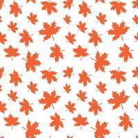 Nahtloses Vektormuster mit Herbstlaub. Ernten des Herbstlaubhintergrundes für Textildruck, Packpapier, scrapbooking.