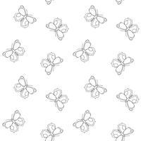 Schmetterling nahtlose Muster. Wiederholen des Schmetterlingshintergrundes für Textildesign, Packpapier, Tapete, Scrapbooking. vektor