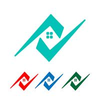 Architekt, Haus, kreativer Logoschablonenvektor des Baus lokalisiert vektor