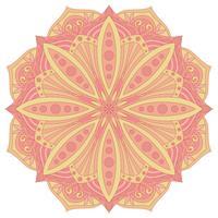 Ethnisches dekoratives Gestaltungselement. Buntes Vektor-Mandala-Symbol. Runde abstrakte Blumenverzierung.