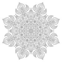 Vektor Mandala. Orientaliskt dekorativt element. Islam, arabiska, indiska, turkiska, pakistan, kinesiska, osmanska motiv. Etniska designelement. Handdragen mandala. Monokrom konturmandala för färgning.