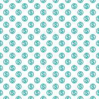 Nahtloses Muster mit Dollarzeichen. Wiederholen des Währungszeichenhintergrundes für Textildesign, Packpapier, Scrapbooking usw. vektor