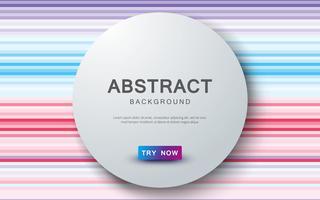 Abstrakt färgad bakgrund med realistisk cirkel överlappande lagerdekoration. vektor