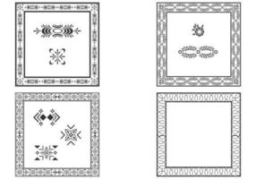 Dekorative quadratische Rahmen Vektor Set