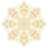 Etniskt dekorativt designelement. Mandala symbol. Rund abstrakt blommig prydnad