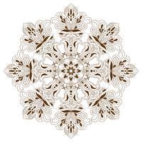 Orientalisches dekoratives Element für erwachsenes Malbuch. Ethnische einfarbige Verzierung