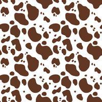 Seamless handritad mönster med ko päls. Upprepande kohud bakgrund för textil design, scrapbooking, omslagspapper, tapeter. Abstrakt oändligt djurtryck. vektor