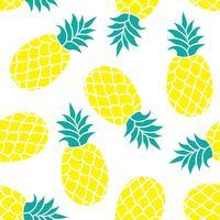 Ananas Vektor Hintergrund. Bunter tropischer Textildruck des Sommers.