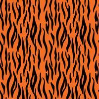 Abstrakter Tierdruck. Nahtloses Vektormuster mit Tigerstreifen. Textil, das Tigerpelzhintergrund wiederholt