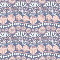 Abstrakt färgstarkt klottermönster. Handritat klottermönster för textil design, papper, scrapbooking. Seamless vektor doodle pattern.