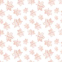 Nahtloses Vektormuster mit Herbstlaub. Halloween, das Herbstlaubhintergrund für Textildruck, Packpapier oder das Scrapbooking wiederholt.