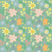 Nahtloses Muster mit Frühlingsblumen. vektor