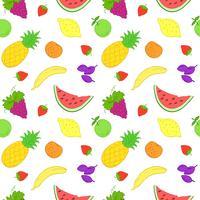 Sömlöst mönster med frukter.