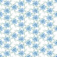 Nahtloses buntes Vektormuster mit Frühlingsblumen. Blumenmuster. Vektor Blumenmuster. Bunter Blumenhintergrund. Florale Elemente. Textilblumenmuster. Frühling Hintergrund.