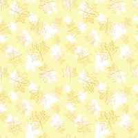 Seamless vektor mönster med höstlöv. Halloween upprepande höstlöv.