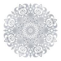 Vektor Mandala prydnad. Vintage dekorativa element. Orientaliskt runda mönster. Islam, arabiska, indiska, turkiska, pakistan, kinesiska, osmanska motiv. Handdragen blommig bakgrund.