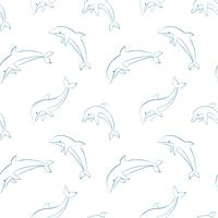 Vektor nahtlose Muster mit Delphinen.