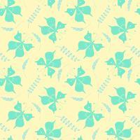 Seamless mönster med fjärilar och blommiga element. Vektor illustration.