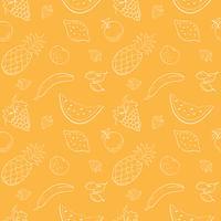 Nahtloses Vektormuster mit Früchten und Beeren. vektor