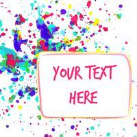Färgrik akvarell bakgrund för hälsningskort med plats för din text. vektor
