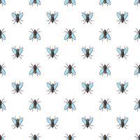 Fliegen Sie nahtloses Muster des Vektors für Textildesign, Tapete, Packpapier vektor