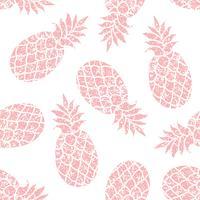 Ananas vektor sömlöst mönster för textil, scrapbooking eller omslagspapper. Ananas silhuett repeterande prydnad.