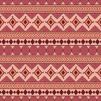 Stammes-nahtlose Vektormuster. Ethnischer abstrakter geometrischer Hintergrund. Reapiting Ornament im Ethno-Stil für Tapeten, Geschenkpapier, Scrapbooking oder Textildesign. vektor