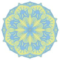 Mandala. Orientaliskt dekorativt element. Islam, arabiska, indiska, osmanska motiv.