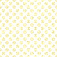 Nahtloses Muster mit Dollarzeichen. Wiederholen des Währungszeichenhintergrundes für Textildesign, Packpapier, Scrapbooking usw.