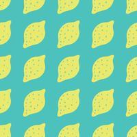 Sömlös bakgrund med citroner. Citroner repeterande mönster för textil design. vektor