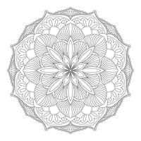 Vektor Mandala. Orientaliskt dekorativt element.