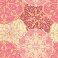 Seamless vektor mönster med mandala symboler. Etnisk dekorativ prydnad.